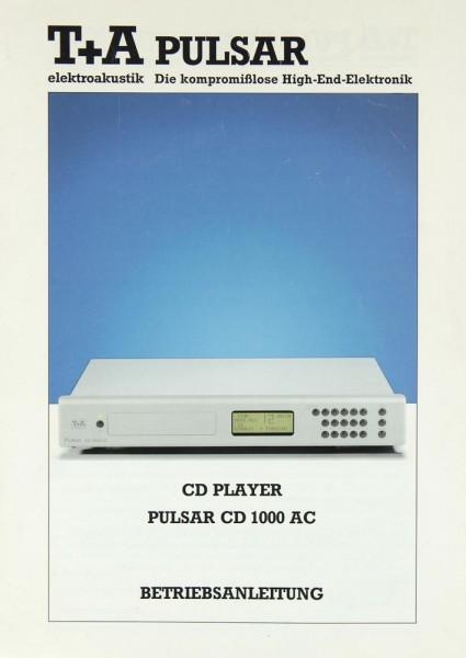 T + A PULSAR CD 1000 AC Bedienungsanleitung
