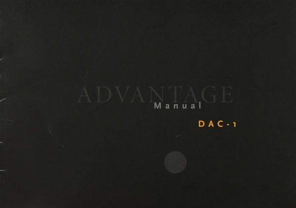 Advantage DAC-1 Bedienungsanleitung