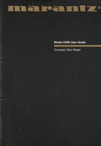 Marantz CD 80 Bedienungsanleitung
