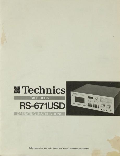 Technics RS-671 USD Bedienungsanleitung