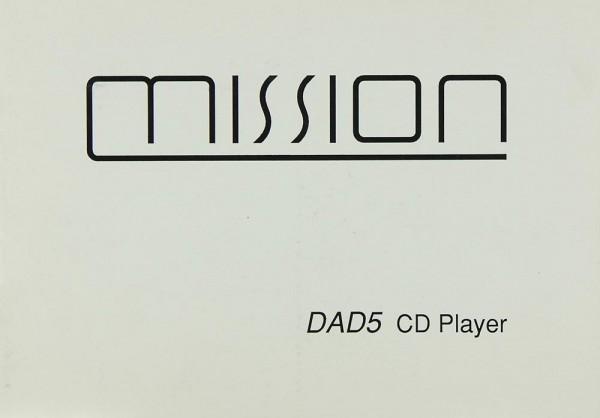 Mission / Cyrus DAD-5 Bedienungsanleitung