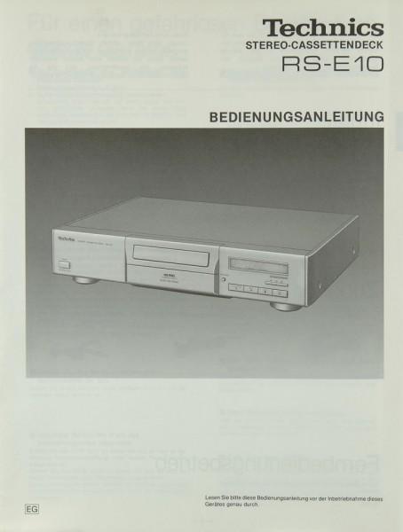 Technics RS-E 10 Bedienungsanleitung