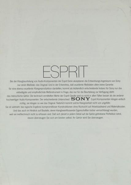 Sony Esprit-Serie Prospekt / Katalog
