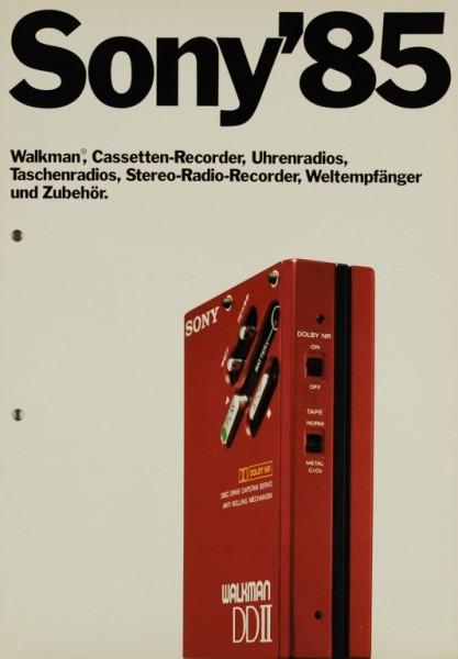 Sony Sony ´85 - Walkman, Cassetten-Recorder etc. Prospekt / Katalog