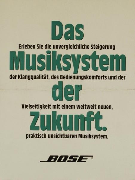 Bose Das Musiksystem der Zukunft Prospekt / Katalog