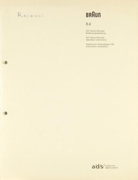 Braun R 4 Bedienungsanleitung