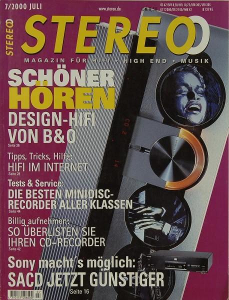 Stereo 7/2000 Zeitschrift