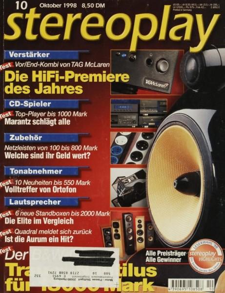 Stereoplay 10/1998 Zeitschrift