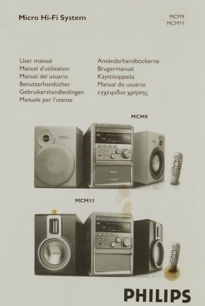 Philips MCM 9 / MCM 11 Bedienungsanleitung