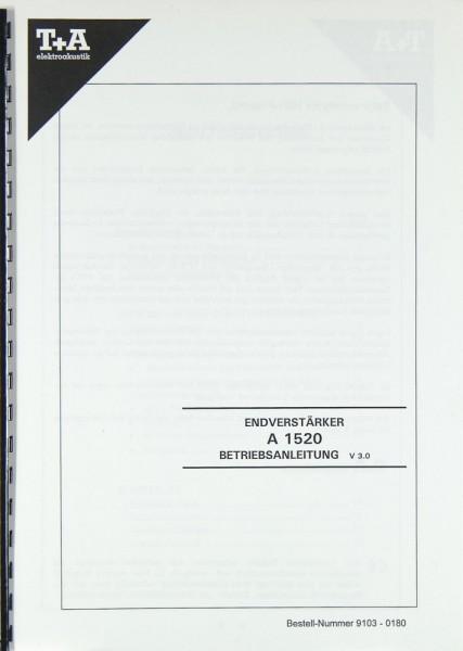 T + A A 1520 Bedienungsanleitung