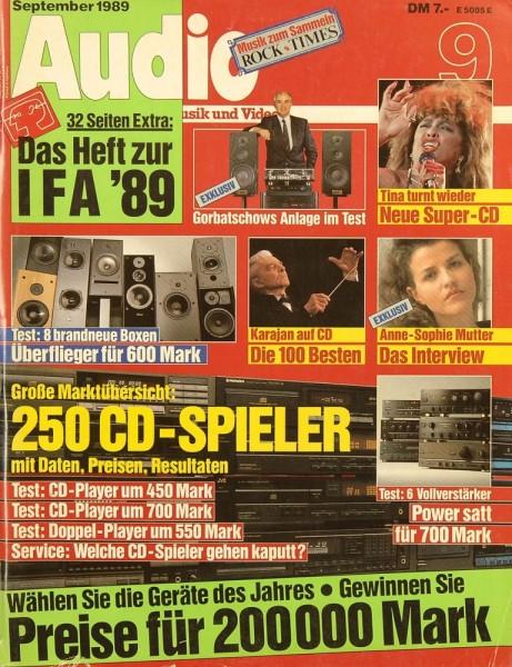 Audio 9/1989 Zeitschrift
