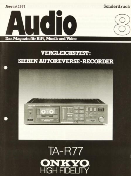 Onkyo u.a. TA-R 77 u.a. Testnachdruck