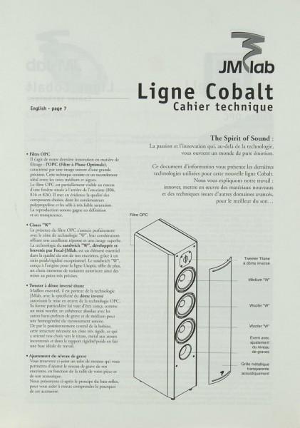 JM Lab Ligne Cobalt Bedienungsanleitung