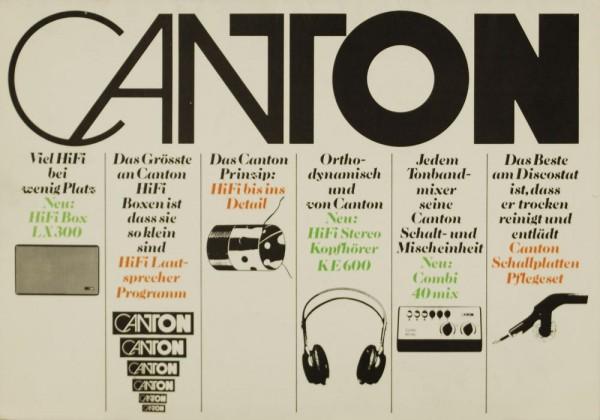 Canton HiFi Elektronik Prospekt / Katalog