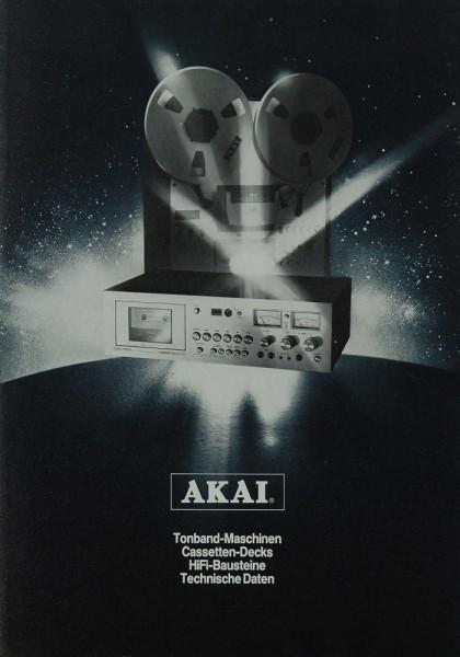 Akai 1976 Prospekt / Katalog