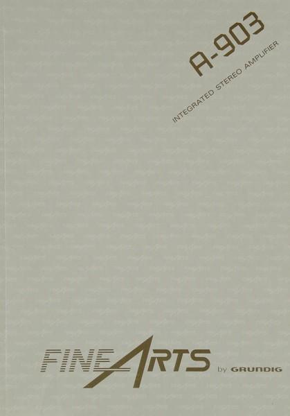 Fine Arts / Grundig A-903 Bedienungsanleitung