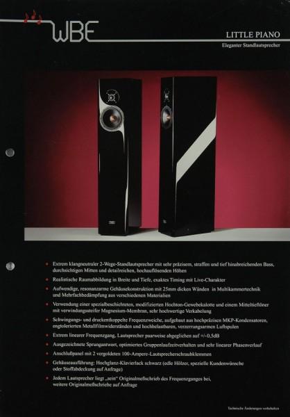 WBE Little Piano Prospekt / Katalog