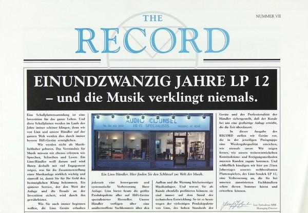 Linn LP 12 Prospekt / Katalog