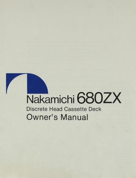 Nakamichi 680 ZX Bedienungsanleitung