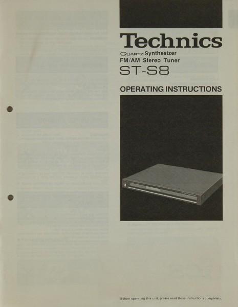 Technics ST-S 8 Bedienungsanleitung
