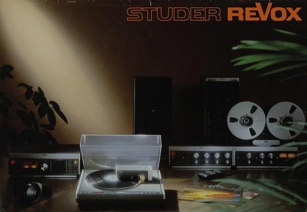 Revox Produktübersicht Prospekt / Katalog