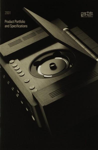 Mark Levinson 2001 - Product Portfolio and Specifications Prospekt / Katalog