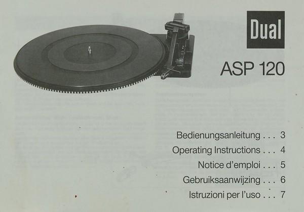 Dual ASP 120 Bedienungsanleitung