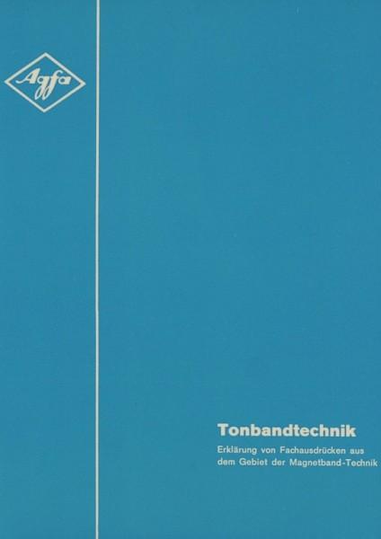 Agfa Tonbandtechnik Prospekt / Katalog