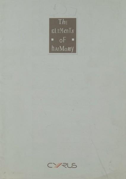 Cyrus The Elements of Harmony Prospekt / Katalog