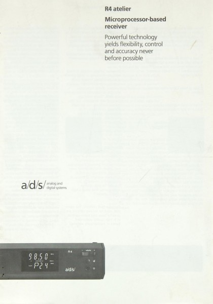 ADS R4 Atelier Prospekt / Katalog