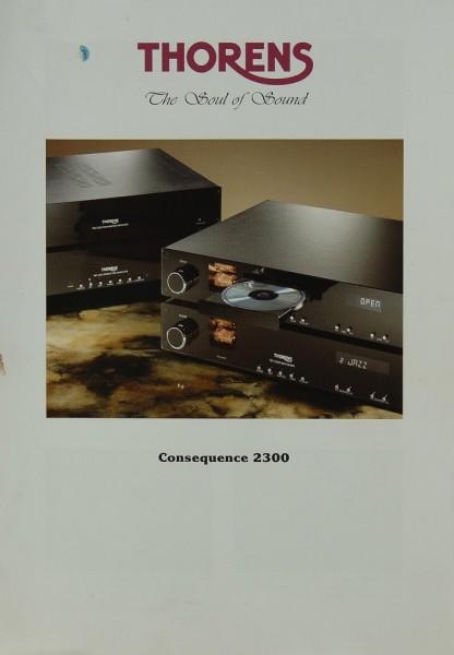 Thorens Consequence 2300 Prospekt / Katalog