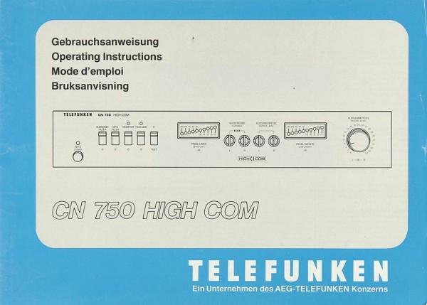 Telefunken CN 750 Bedienungsanleitung