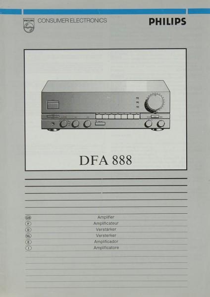 Philips DFA 888 Bedienungsanleitung