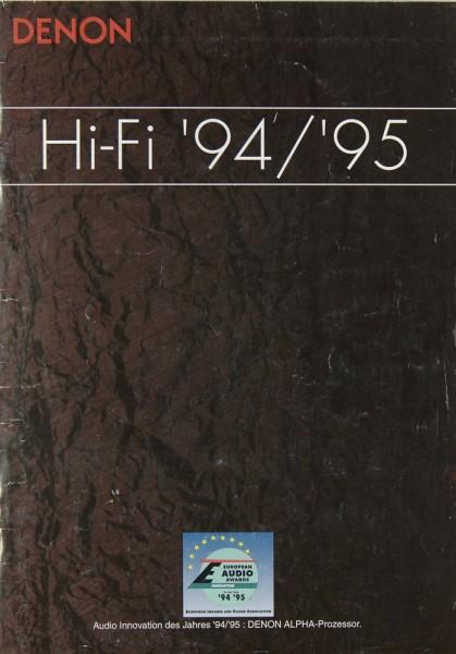 Denon Gesamtkatalog 1995/1995 Prospekt / Katalog