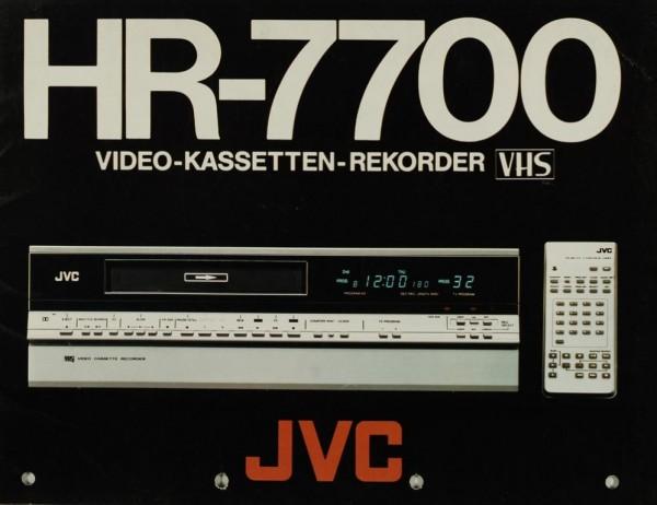 JVC HR-7700 Prospekt / Katalog