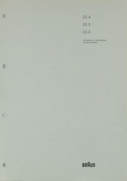 Braun GS 4 / GS 5 / GS 6 Bedienungsanleitung