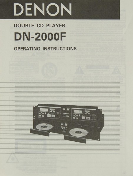 Denon DN-2000 F Bedienungsanleitung