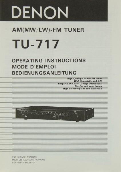Denon TU-717 Bedienungsanleitung
