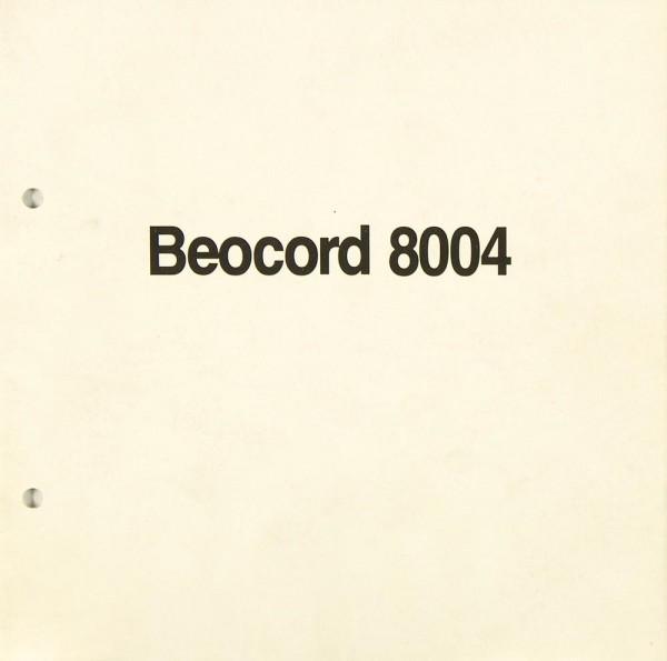 B & O Beocord 8004 Bedienungsanleitung