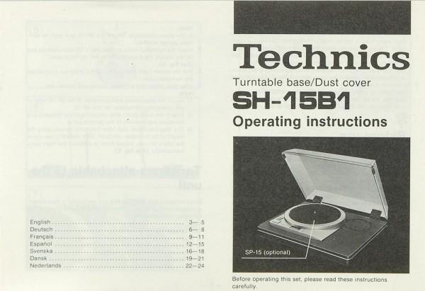 Technics SH-15 B 1 Bedienungsanleitung