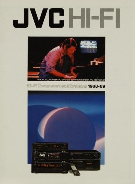 JVC Hi-Fi Komponenten & Systeme 1988-89 Prospekt / Katalog
