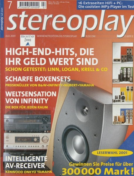 Stereoplay 7/2001 Zeitschrift