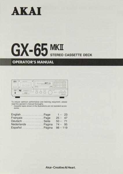 Akai GX-65 MK II Bedienungsanleitung