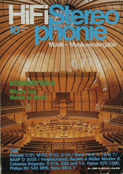 Hifi Stereophonie 10/1978 Zeitschrift