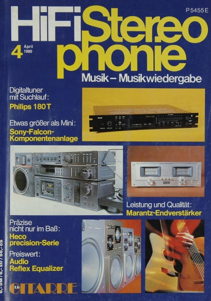 Hifi Stereophonie 4/1980 Zeitschrift