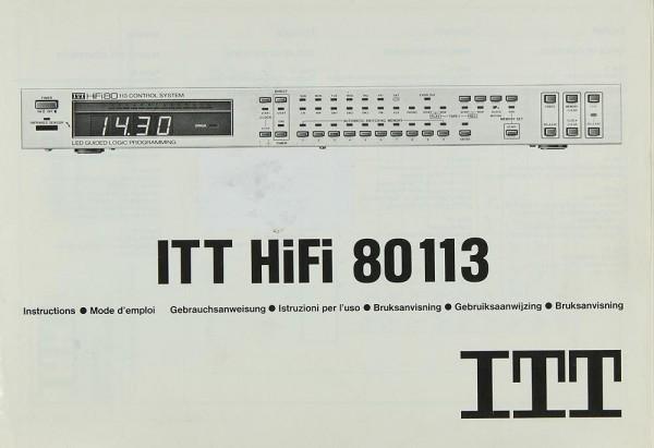 ITT 80113 Bedienungsanleitung