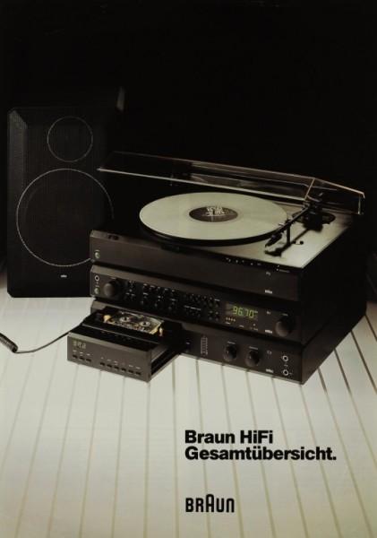 Braun Hi-Fi Gesamtübersicht Prospekt / Katalog