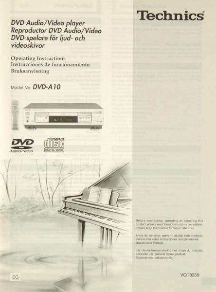 Technics DVD-A 10 Bedienungsanleitung