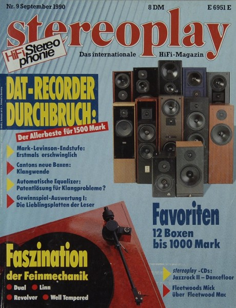 Stereoplay 9/1990 Zeitschrift