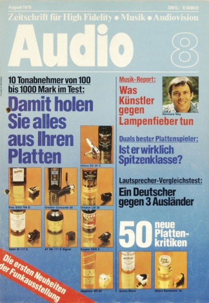 Audio 8/1979 Zeitschrift